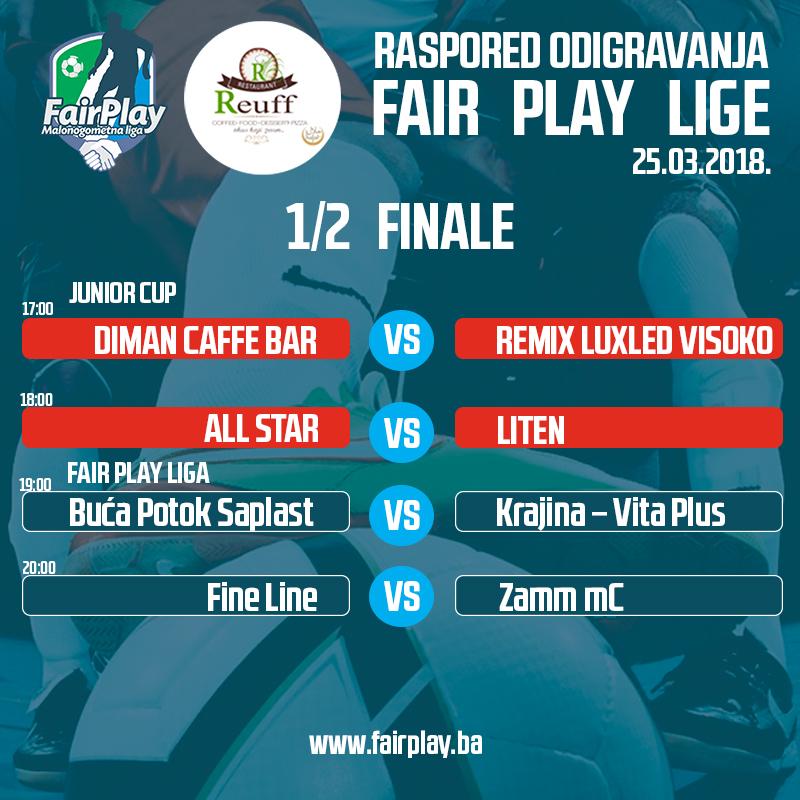 Sve je spremno za polufinale Fair Play lige i Junior Cup-a