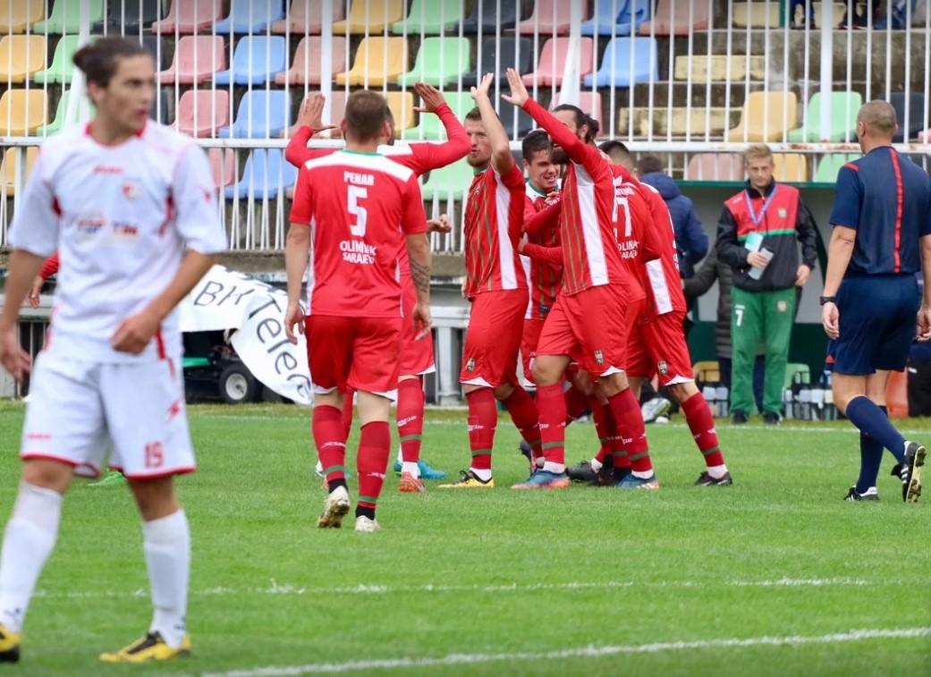 11. Kolo Prve lige FBIH u nogometu , FK Olimpik - NK Jedinstvo 2:0