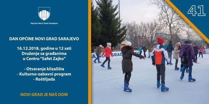 Otvaranje besplatnog klizališta u kulturnom centru Safet Zajko 16.12.2018