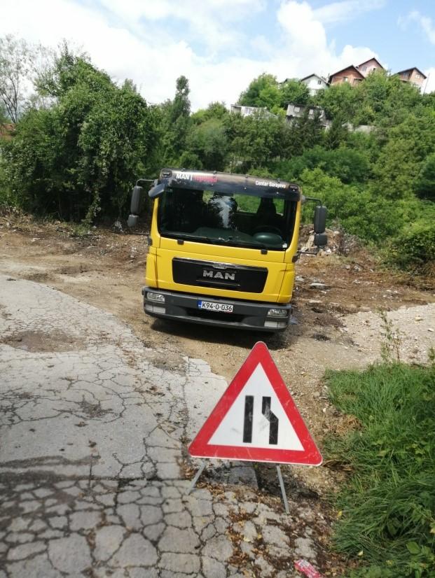 """Vijest iz službe za održavanje površinskih slojeva lokalnih cesta JP """"LOKOM"""" doo Sarajevo"""
