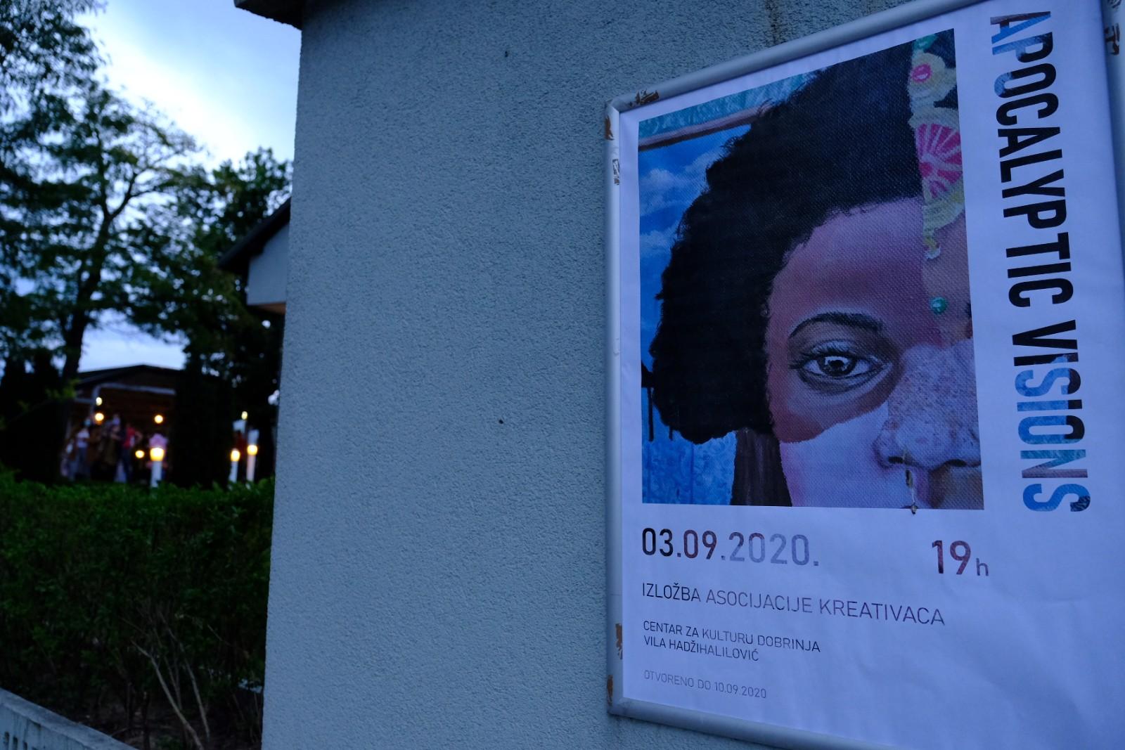 """Otvorena izložba """"Apokaliptične vizije"""" mladih umjetnika sa područja Novog Grada"""