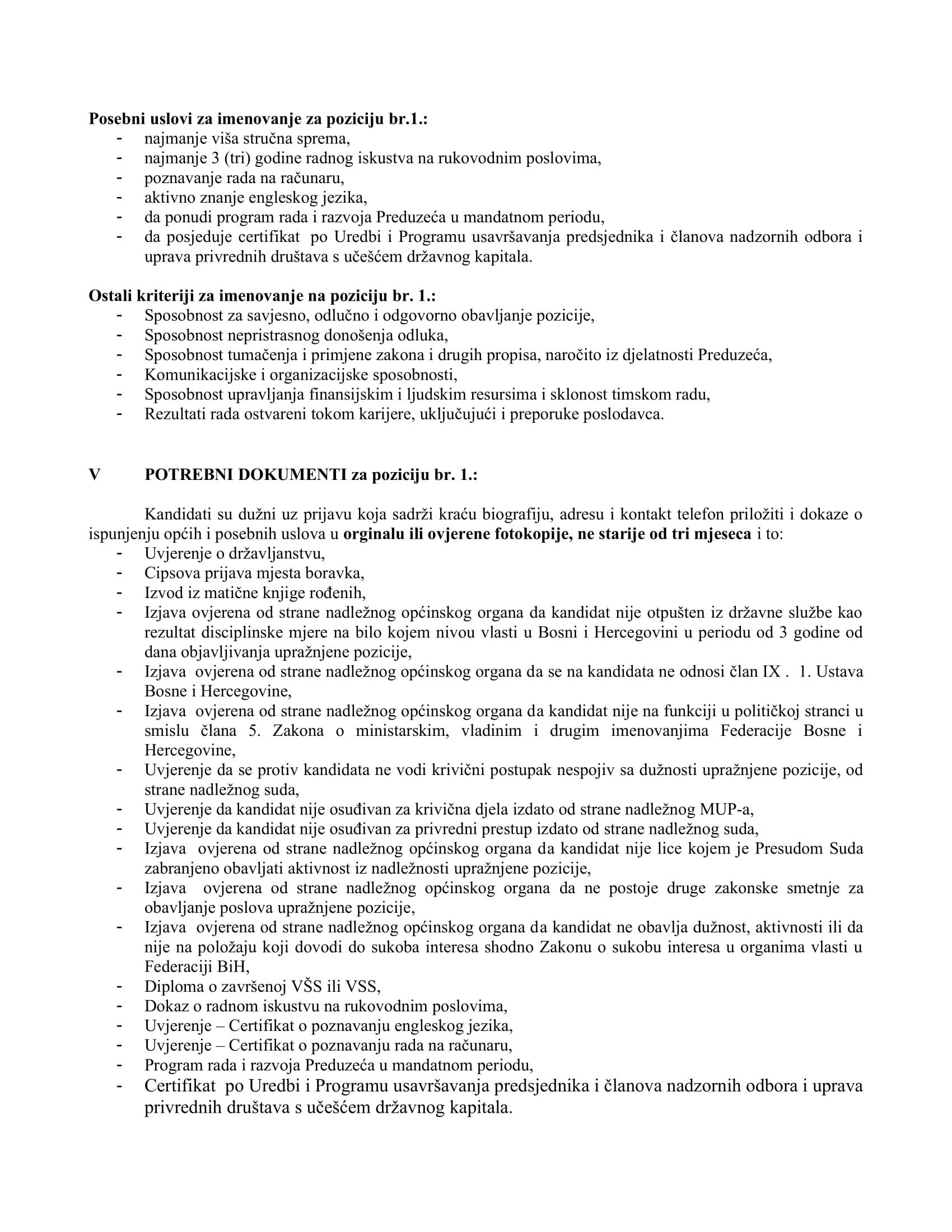 JO  Izvršni Direktor Sektora za operativno-tehničke poslove JP _LOKOM_ d.o.o.Sarajevo-3