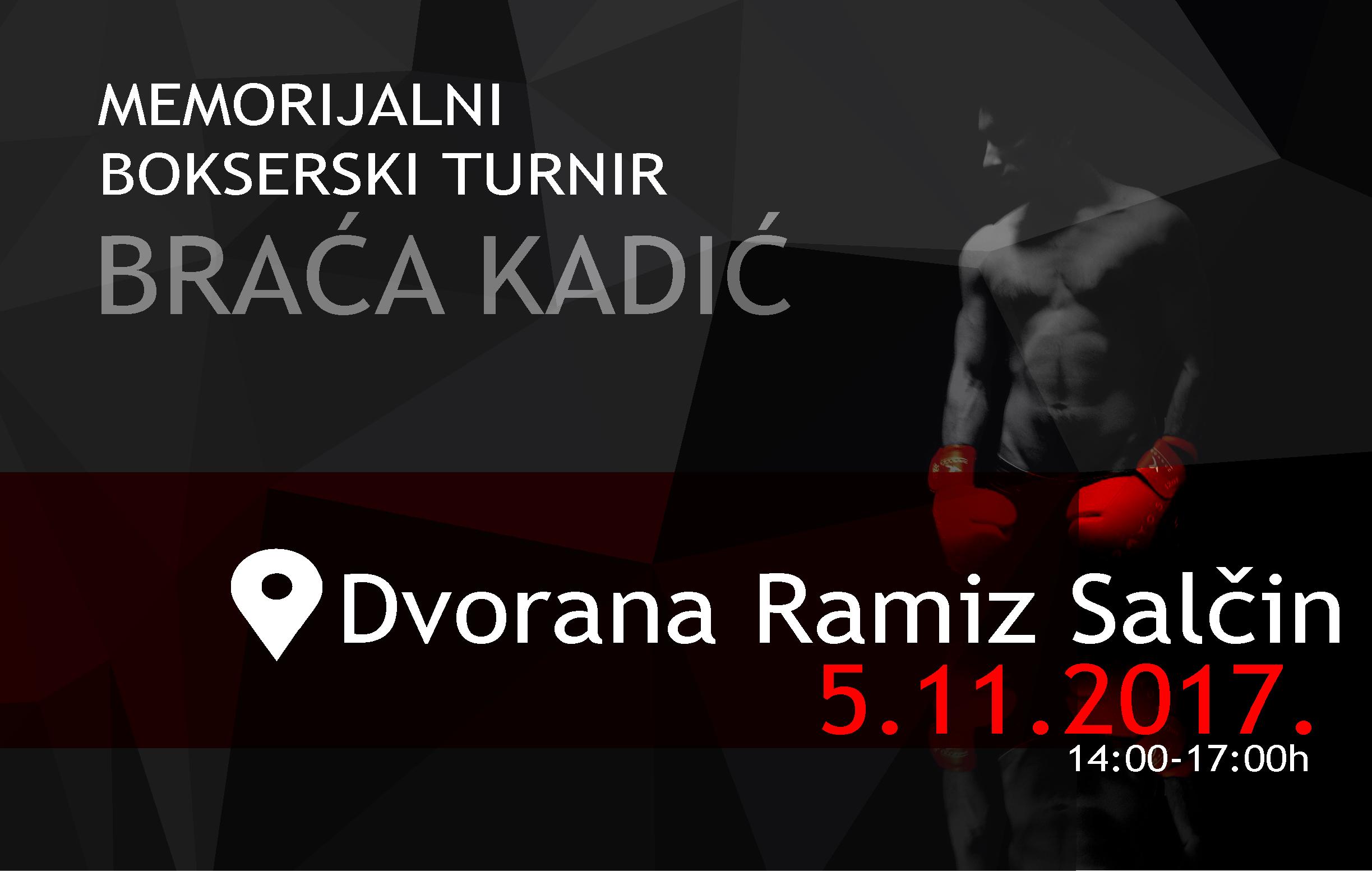 """Memorijalni bokserski turnir """"Braća Kadić"""" u dvorani """"Ramiz Salčin"""""""