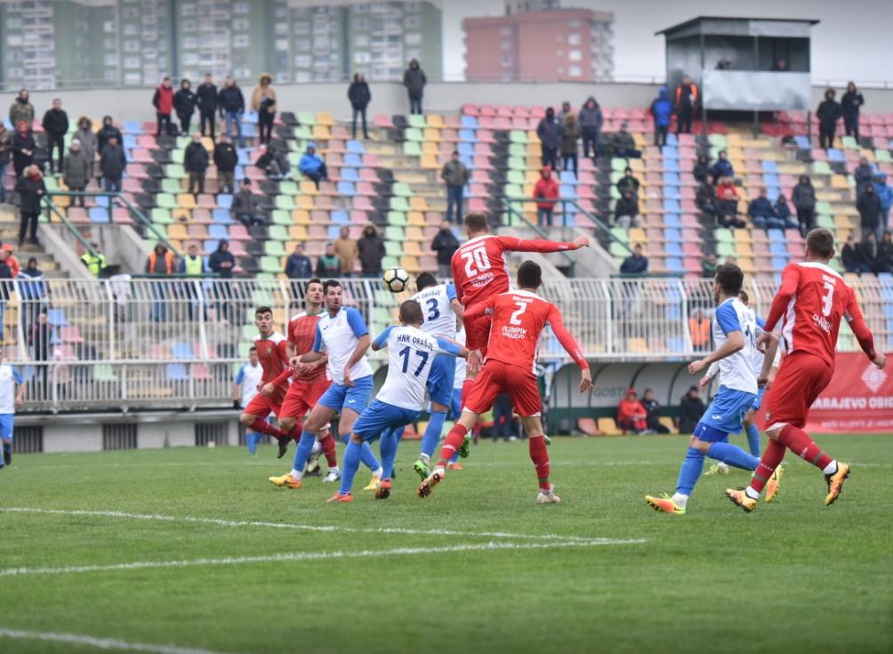 15. Kolo Prve lige FBIH u nogometu , FK Olimpik - HNK Orašje 1:0