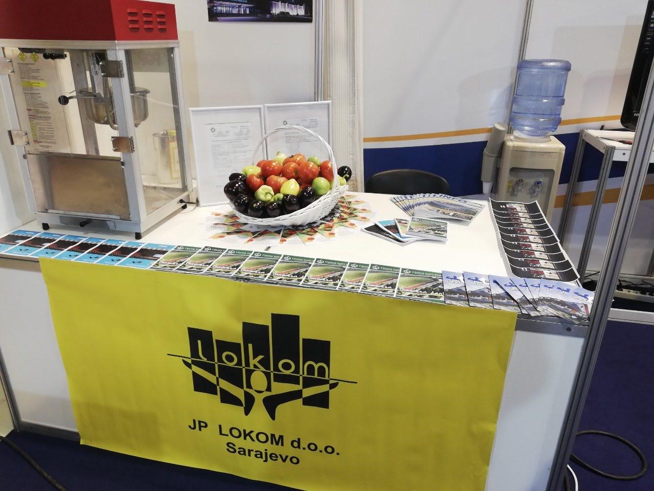 """Organski proizvodi sa poljoprivredno edukativnog poligona Mojmilo - JP """"Lokom''  na Sarajevskom ''Festival turizmu'' i ''Sajmu privrede'' u Skenderiji"""