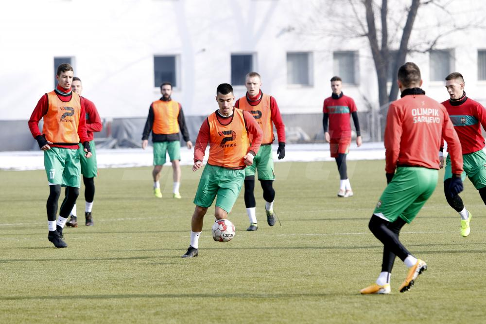 Fudbaleri Olimpika obavili trening u centru Safet Zajko